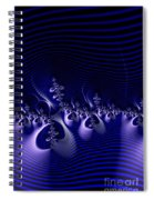 Hypnotique Blue Spiral Notebook