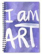 I Am Art Painted Blue And White- By Linda Woods Spiral Notebook