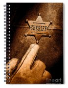 I Am The Law - Sepia Spiral Notebook