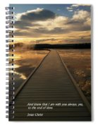 I Am With You Spiral Notebook