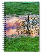 I Can See China - Hole In The Grass Spiral Notebook