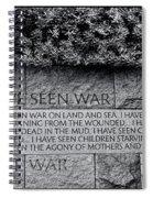 I Hate War Spiral Notebook