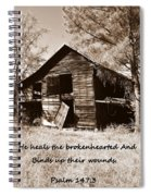 I Have Seen Better Days Psalm 147 3 Sepia Spiral Notebook
