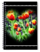 I Heart Tulips - Black Background Spiral Notebook