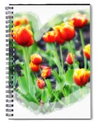 I Heart Tulips Spiral Notebook