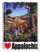 I Love Appalachia - Coon Gap Holler Country Farm Landscape 1 Spiral Notebook