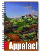 I Love Appalachia T Shirt - Spring Groundhog - Country Farm Landscape Spiral Notebook