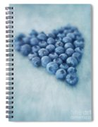 I Love Blueberries Spiral Notebook