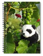 I Love Grapes Says The Panda Spiral Notebook