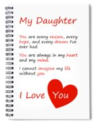 I Love My Daughter Spiral Notebook