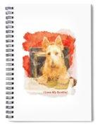 I Love My Scottie Spiral Notebook