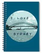 I Love Sydney Spiral Notebook