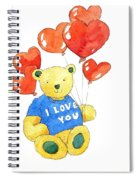 I Love You Bear Spiral Notebook