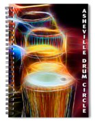 I Sing The Drums Electric Spiral Notebook