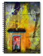 I Wear My Heart On The The Door Spiral Notebook