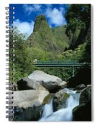 Iao Needle And Creek Spiral Notebook