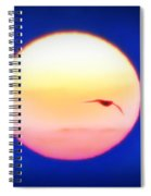 Icarus Flying Into The Sun Spiral Notebook