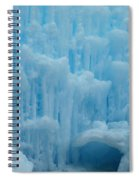 Ice Castles In Lincoln New Hampshire -2 Spiral Notebook