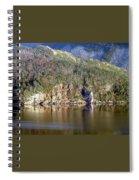 Ice Cliff In Autumn Spiral Notebook