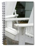 Ice-coated Chairs Spiral Notebook
