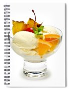 Ice Cream With Fruit Spiral Notebook