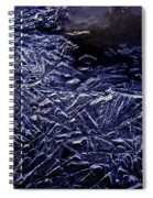 Ice Crystals In River Spiral Notebook