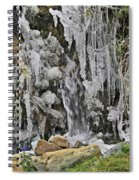 Ice Droplets  Spiral Notebook