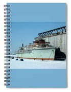 Ice Fishing On Lake Erie Spiral Notebook