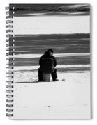 Ice Fishing Spiral Notebook