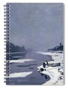 Ice On The Seine At Bougival Spiral Notebook