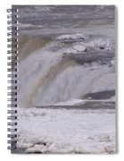 Ice Over The Falls Spiral Notebook