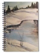 Ice Pond Spiral Notebook