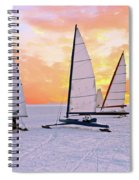 Ice Sailing On The Gouwzee In The Countryside From The Netherlan Spiral Notebook