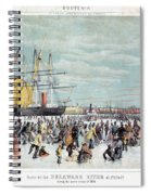 Ice Skaters, C1856 Spiral Notebook