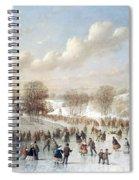 Ice Skating, 1865 Spiral Notebook