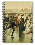 Ice Skating, C1886 Spiral Notebook