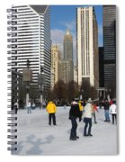 Ice Skating In The Park Spiral Notebook