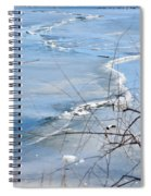 Ice Waves Spiral Notebook
