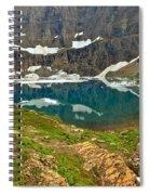 Iceberg Lake Glacier Spiral Notebook