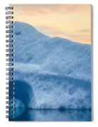 Iceberg On The Jokulsarlon Glacial Spiral Notebook