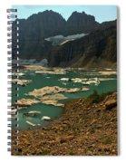 Icebergs Below Grinnell Glacier Spiral Notebook