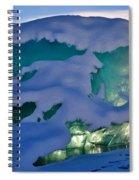 Iceberg's Glow - Mendenhall Glacier Spiral Notebook