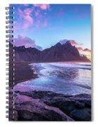 Iceland Beach Sunrise At Stokksnes Spiral Notebook