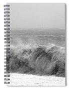Iceland Black Sand Beach Wave Five Spiral Notebook