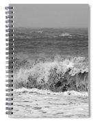 Iceland Black Sand Beach Wave One  Spiral Notebook
