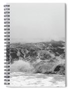 Iceland Black Sand Beach Wave Three Spiral Notebook