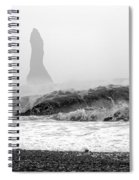 Iceland Black Sand Beach Wave Two Spiral Notebook