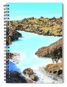 Iceland Blue Lagoon Healing Waters Spiral Notebook
