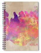 Iceland Map Spiral Notebook