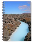 Iceland Tranquil Blue Lagoon  Spiral Notebook